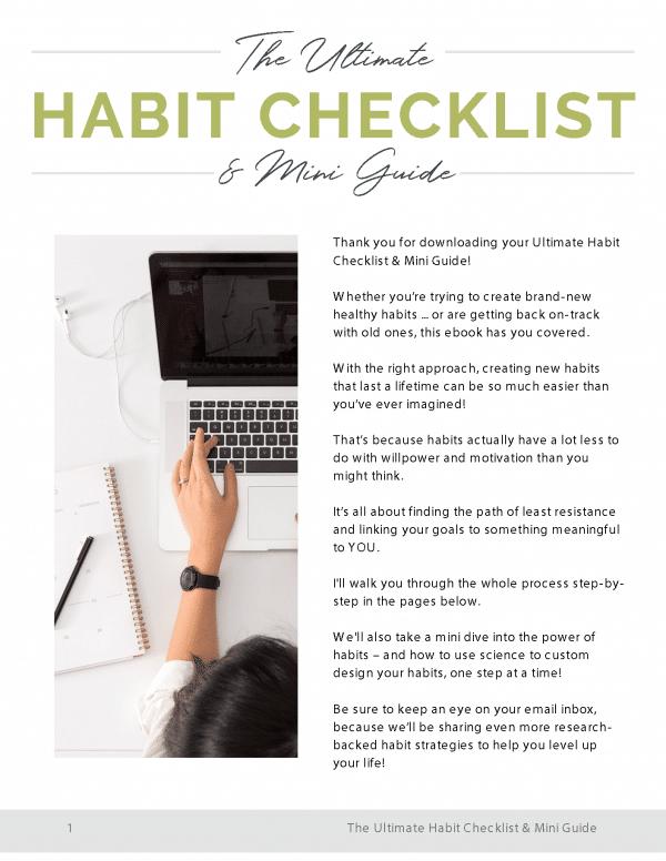 The Ultimate Habit Checklist & Mini Guide